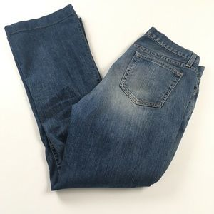 GAP Long and Lean Dark Flare Mid Rise Jeans Sz 12